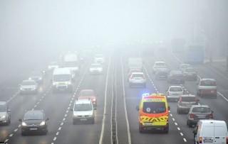 köd budapest (köd, budapest, autópálya,)