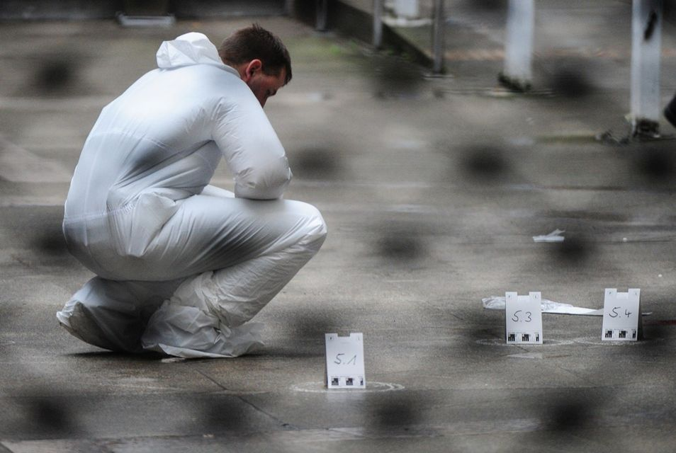 lövöldözés frankfurtban (frankfurt, lövöldözés, helyszínelés, )