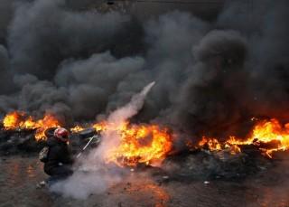 ukrán tüntető (ukrajna, tüntető, )