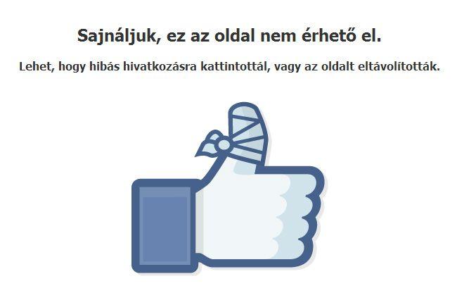 Facebook hibaüzenet (Facebook hibaüzenet)