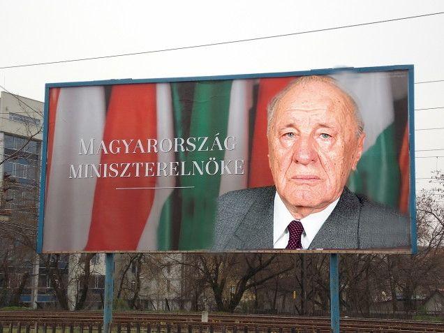 Kádár-Orbán (orbán viktor, óriásplakát, kádár jános)