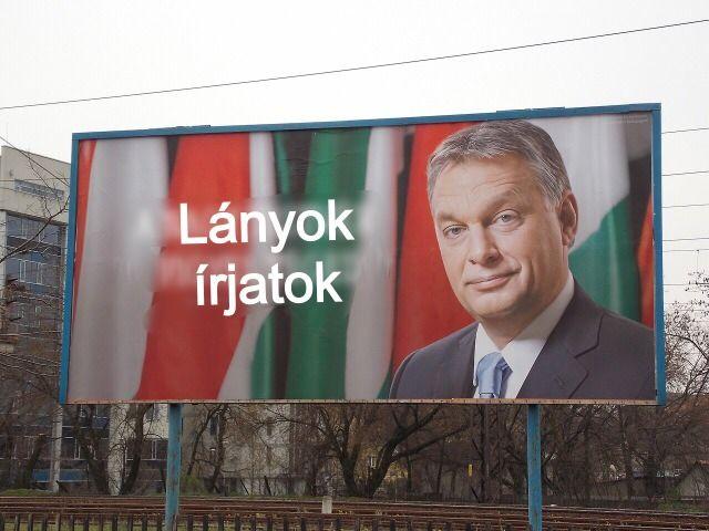Lányok, írjatok - Orbán (orbán viktor, óriásplakát)