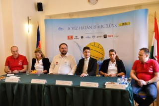 Magyar-Görög vízilabda meccs sajtótájékoztató  (Magyar-Görög vízilabda meccs sajtótájékoztató )