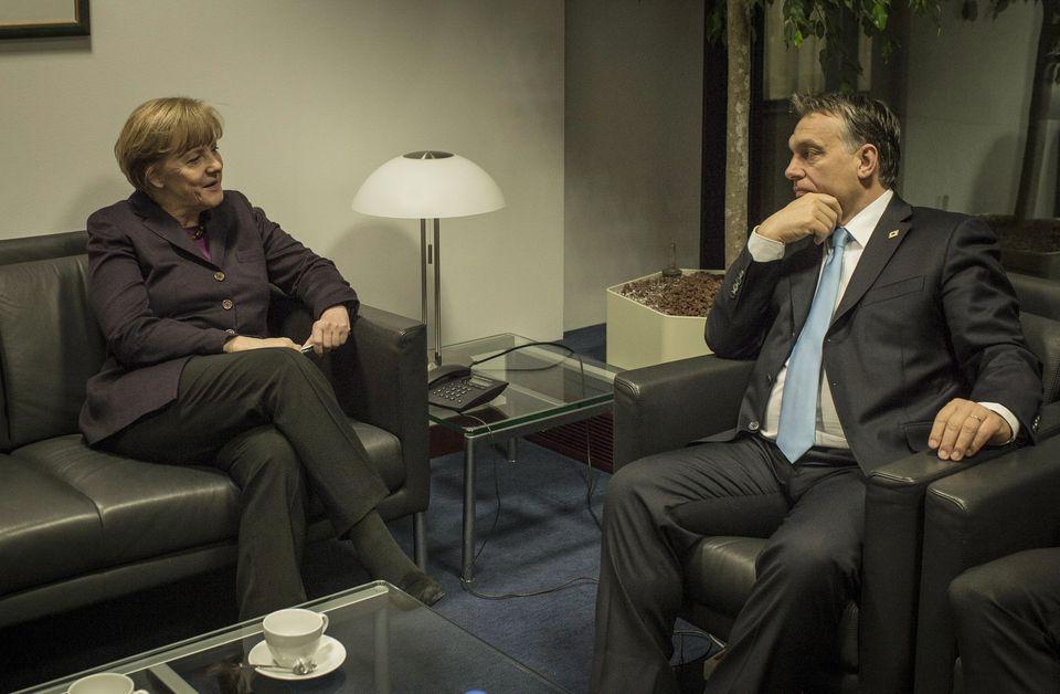 Orbán-Merkel találkozó Brüsszelben (orbán viktor, angela merkel, orbán-merkel, brüsszel,)