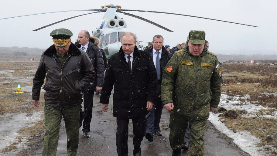 Putyin szentpétervári hadgyakorlaton (putyin, szentpétervár, hadgyakorlat, ukrajna, )