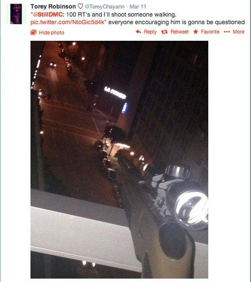 puska twitt (fenyegetés, fegyver, )