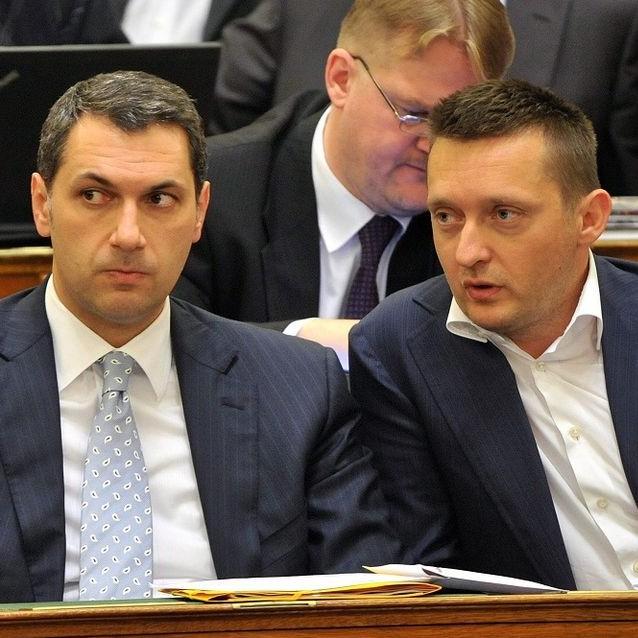 Lázár János és Rogán Antal (lázár jános, rogán antal, parlament, )