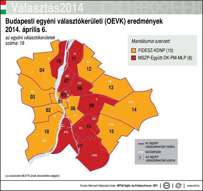 budapesti egyéni választókerületek (egyéni választókerület, választás 2014, budapest, )