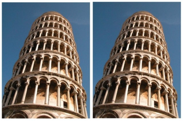 Pisai ferdébb torony (optikai illúzió, )