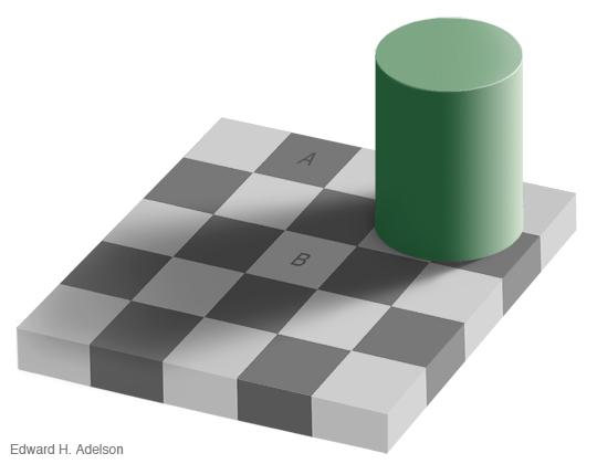 Sakktábla illúzió (optikai illúzió, )