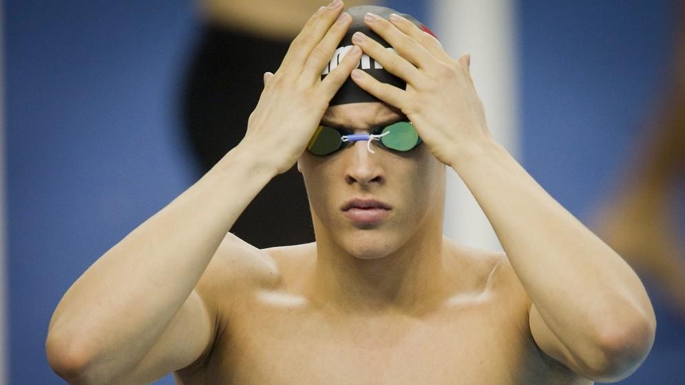 Sanghaj, 2011. július 30. Gyurta Gergely a rajthoz készülõdik az 1500 méteres férfi gyorsúszás második idõfutamában a 14. FINA vizes világbajnokságon, Sanghajban. MTI Fotó: Illyés Tibor