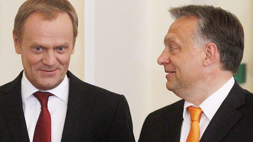 orbán viktor és donald tusk (orbán viktor, donald tusk, varsó, lengyelország, )