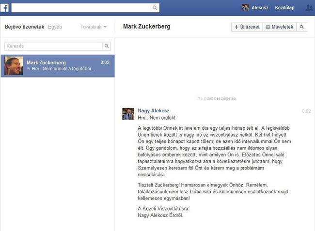 Alekosz üzenete Zuckerbergnek (alekosz, )