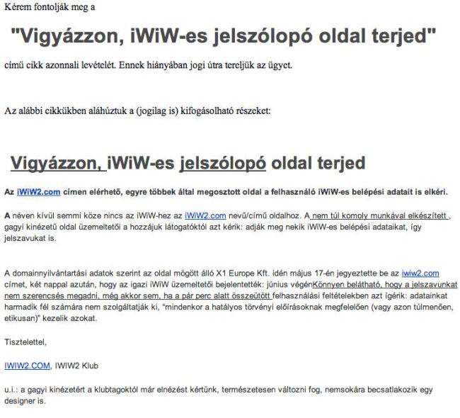 iwiw, adathalász (adathalászat, )