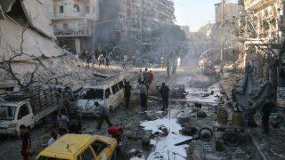 szír légicsapás (szíria, aleppo, légicsapás, )