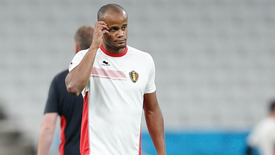 20140625 - SAO PAULO, BRAZIL: Belgium's captain Vincent Kompany pictured during a training session of Belgian national soccer team Red Devils in the stadium 'Estadio do Maracana', in Sao Paulo, Brazil, during the 2014 FIFA World Cup, Wednesday 25 June 2014. The Red Devils lead his group with two victories and they will play their third match in group H against Korea tomorrow. BELGA PHOTO BRUNO FAHY