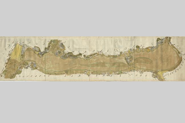 Balaton térkép (Krieger Sámuel Balaton térképe 1776, )