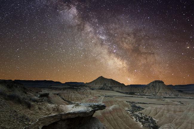 szikla (szikla, csillagok, égbolt, természet, )