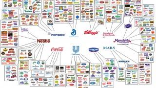 világmárkák (márka, élelmiszeripar, multinacionális cég, infógrafika,)