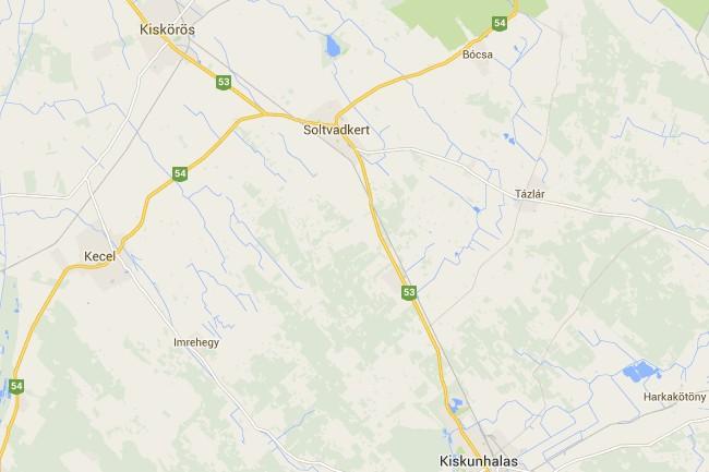 Kecel (kecel, térkép, )