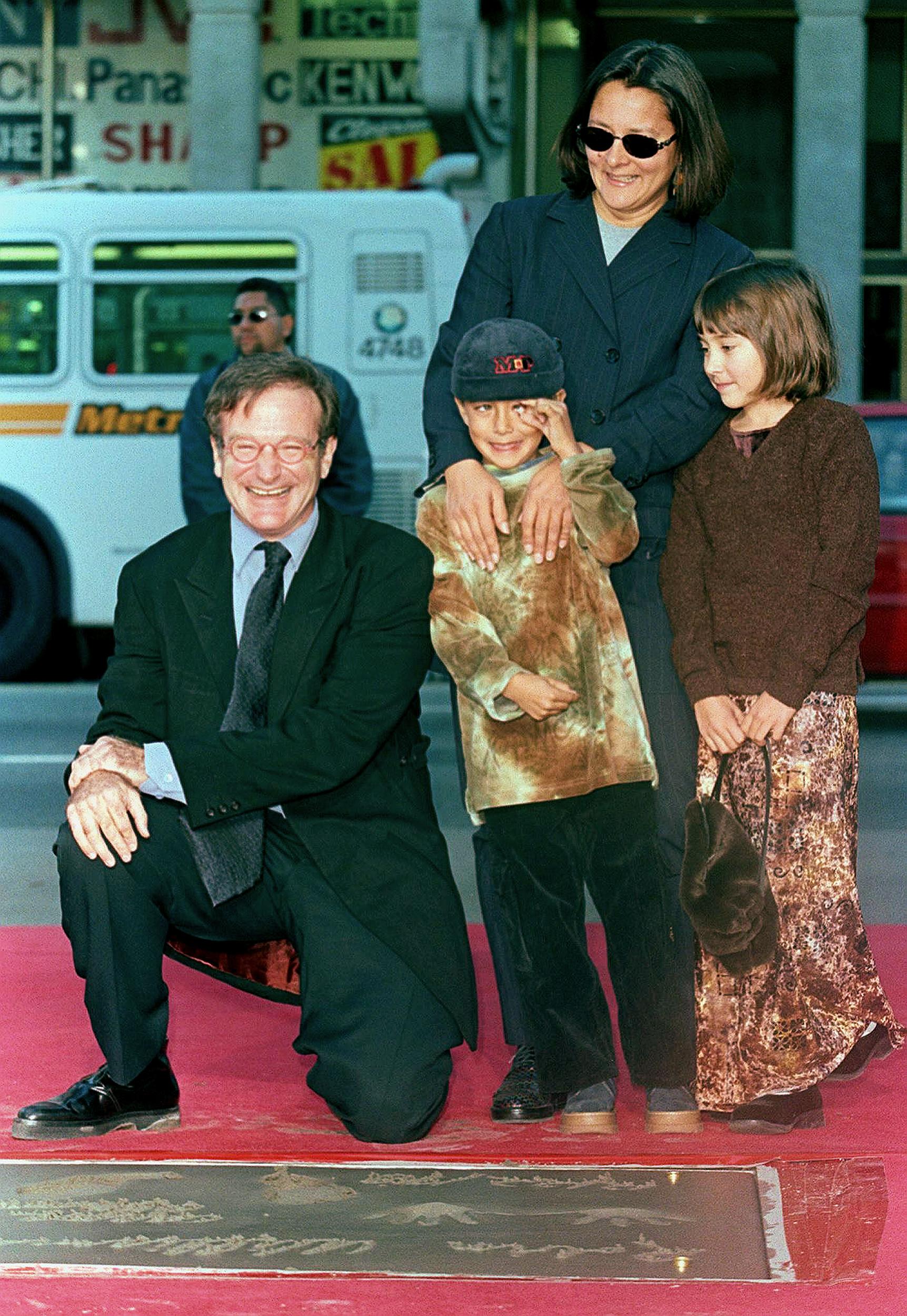Robin Williams és családja (robin williams, )