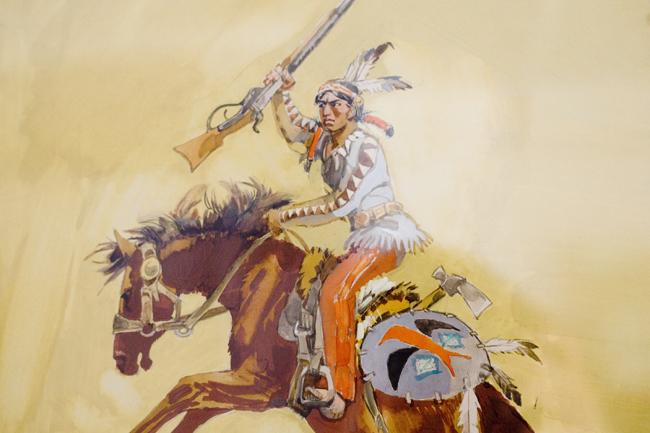 Winnetou (Winnetou, Zorád Ernő rajza, karikatúra, rajz, kiállítás, kultúra)