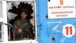 luhanszki milicista (luhanszk, ukrajna)