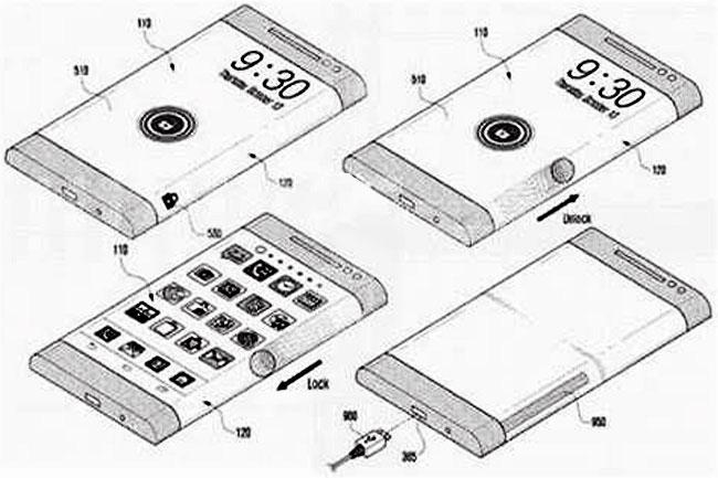 oldalra-halitott-kijelzos-samsung-01 (okostelefon, telefon, mobiltelefon, mobil, kijelző, amoled, samsung, szabadalom, újdonság, mobilport, galaxy note 4, )