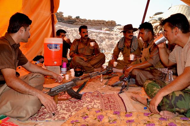 pesmerga harcosok (pesmerga harcosok, Khanaqin síita muszlim város)