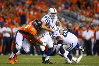 Denver Broncos, Indianapolis Colts  (Denver Broncos, Indianapolis Colts, Andrew Luck, )