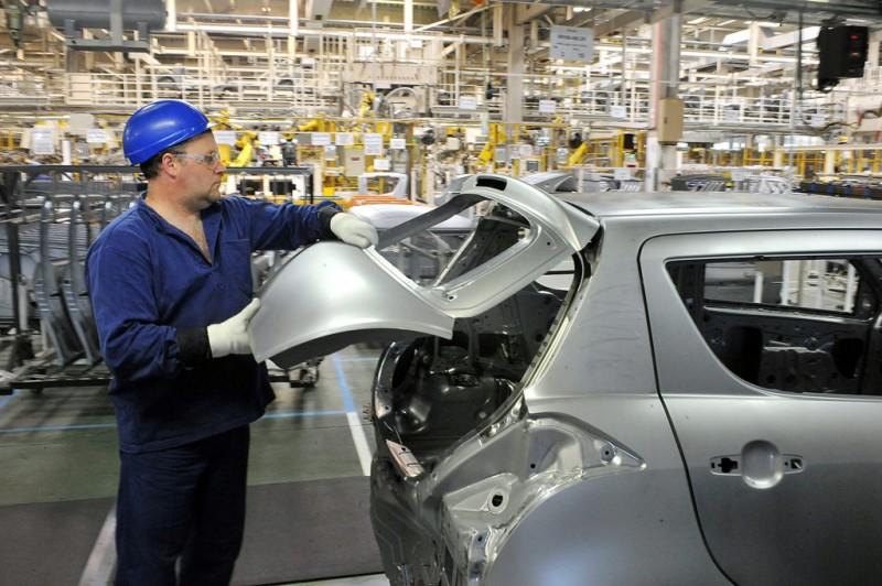 autógyár (autó, autóipar, autógyár, szerelő, munkás,)
