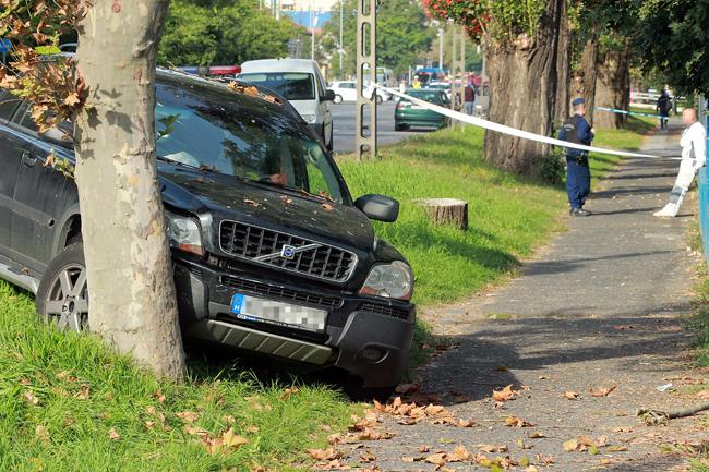 autós üldözés (autós üldözés, lövésnyomok, autó, rablók)