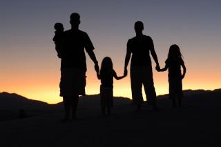 család sziluett (család)