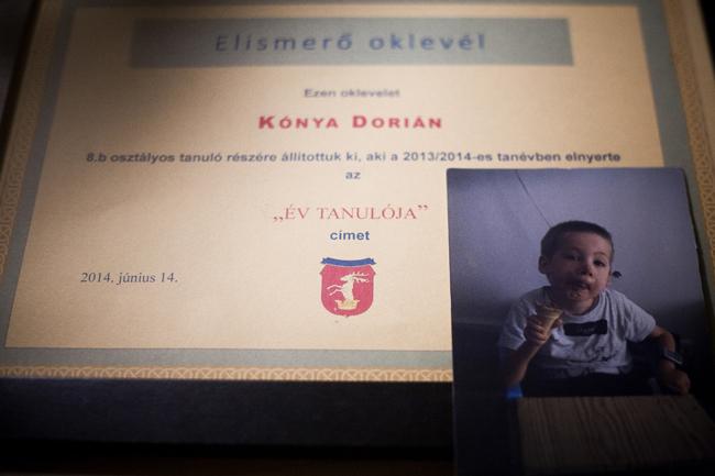 Kónya Dorián (Kónya Dorián, Werdnig-Hoffmann-kór, halálos beteg, végtag bénulás, Megígértem a halálos beteg fiamnak, hogy nem megyek utána)