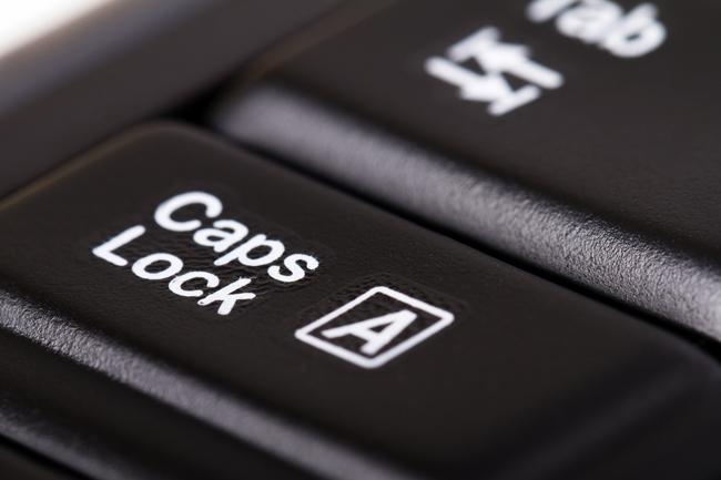 caps lock (klaviatúra, billentyűzet, számítógép)