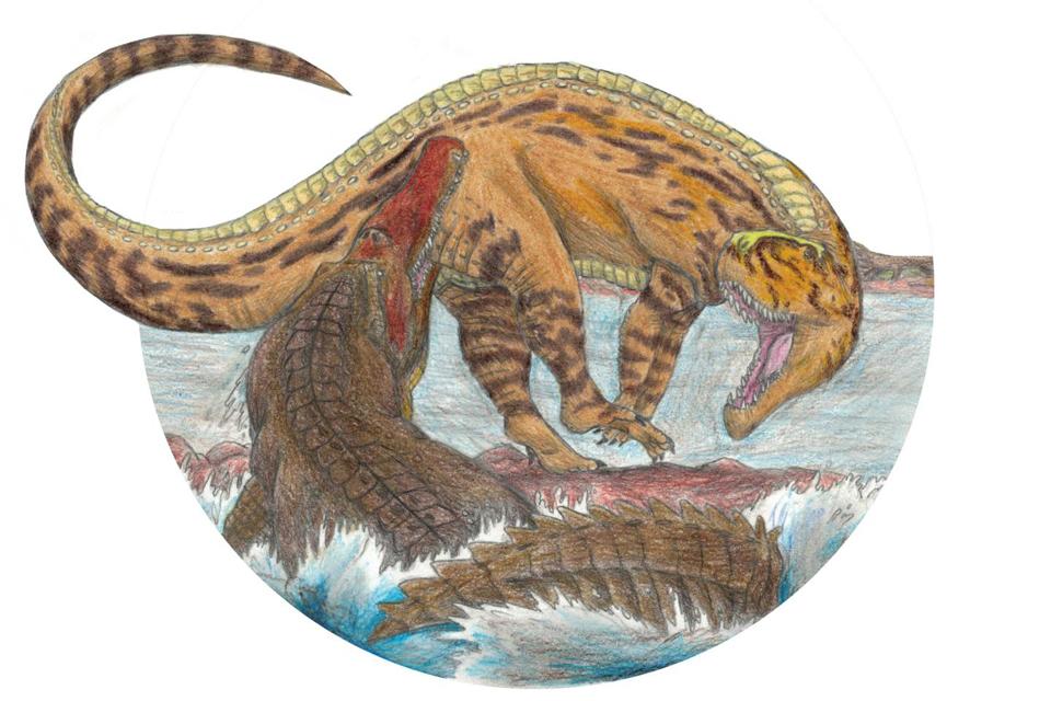 dino harc (dino harc, 200 millió éves harcot rekonstruáltak)
