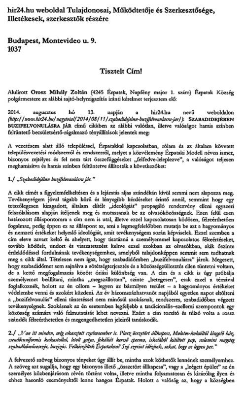 érpatak levél 01 (érpatak levél 01, Orosz Mihály Zoltán)