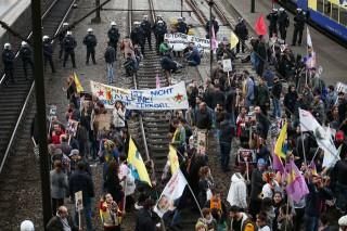 tüntetés Hamburg (Iszlám ellenes tüntetés, Hamburg, kurd)