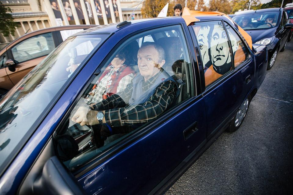 autós tüntetés (autós tüntetés)
