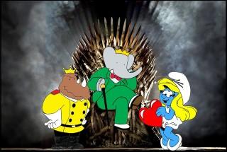 babar hupikék törpikék trónok harca mashup (trónok harca, babar, hupikék törpikék, )