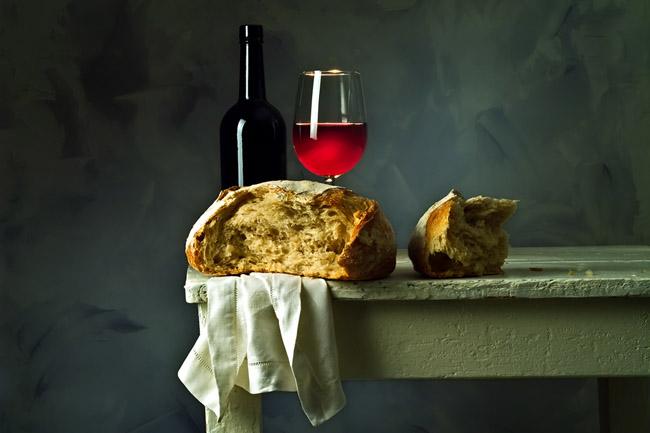 bor és kenyér (bor és kenyér, vallási ünnep, vörös bor)