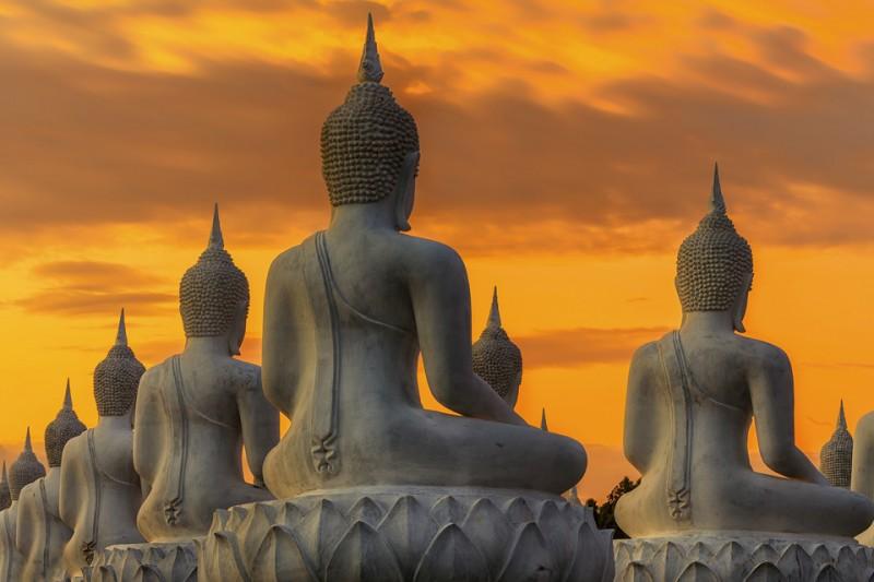 buddha szobor (buddha szobor, meditáció, buddhizmus, )