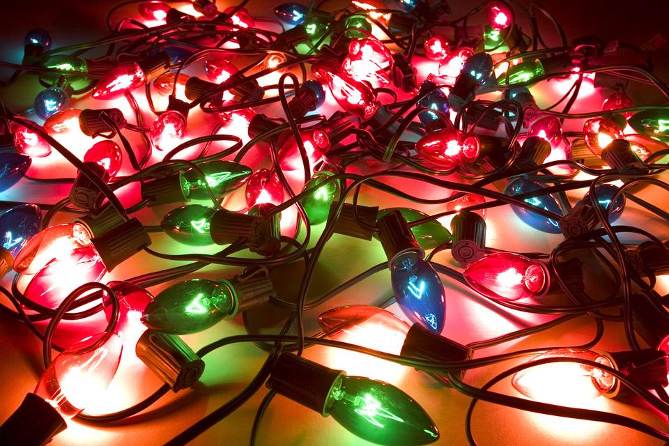 karácsonyi fény (karácsonyi fény, világítás, izzó)
