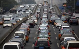 kínai csúcsforgalom (csúcsforgalom, forgalom, dugó, kína)