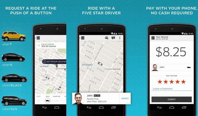 mp-uber (mobilport, uber, alkalmazás, app, android, sprint, usa, taxitársaság, )