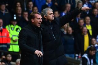 Brendan Rodgers és José Mourinho (brendan rodgers, josé mourinho, )