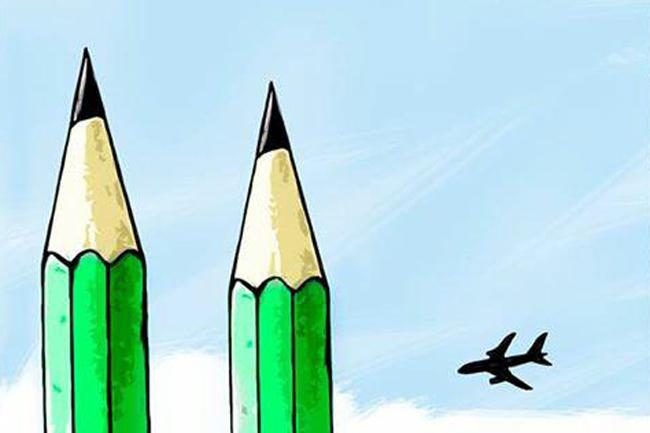 Charlie Hebdo fegyveres támadás (Charlie Hebdo fegyveres támadás, karikatura)