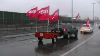 Mszp tüntetés az útdíj ellen (útdíj, demonstráció, )