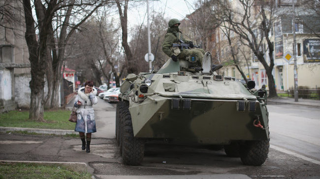 Szimferopol elfoglalása (ukrajna, krím, szimferopol, oroszország)