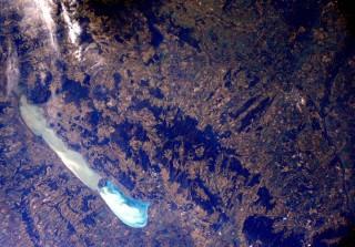 balaton az űrből (balaton, űrfelvétel)